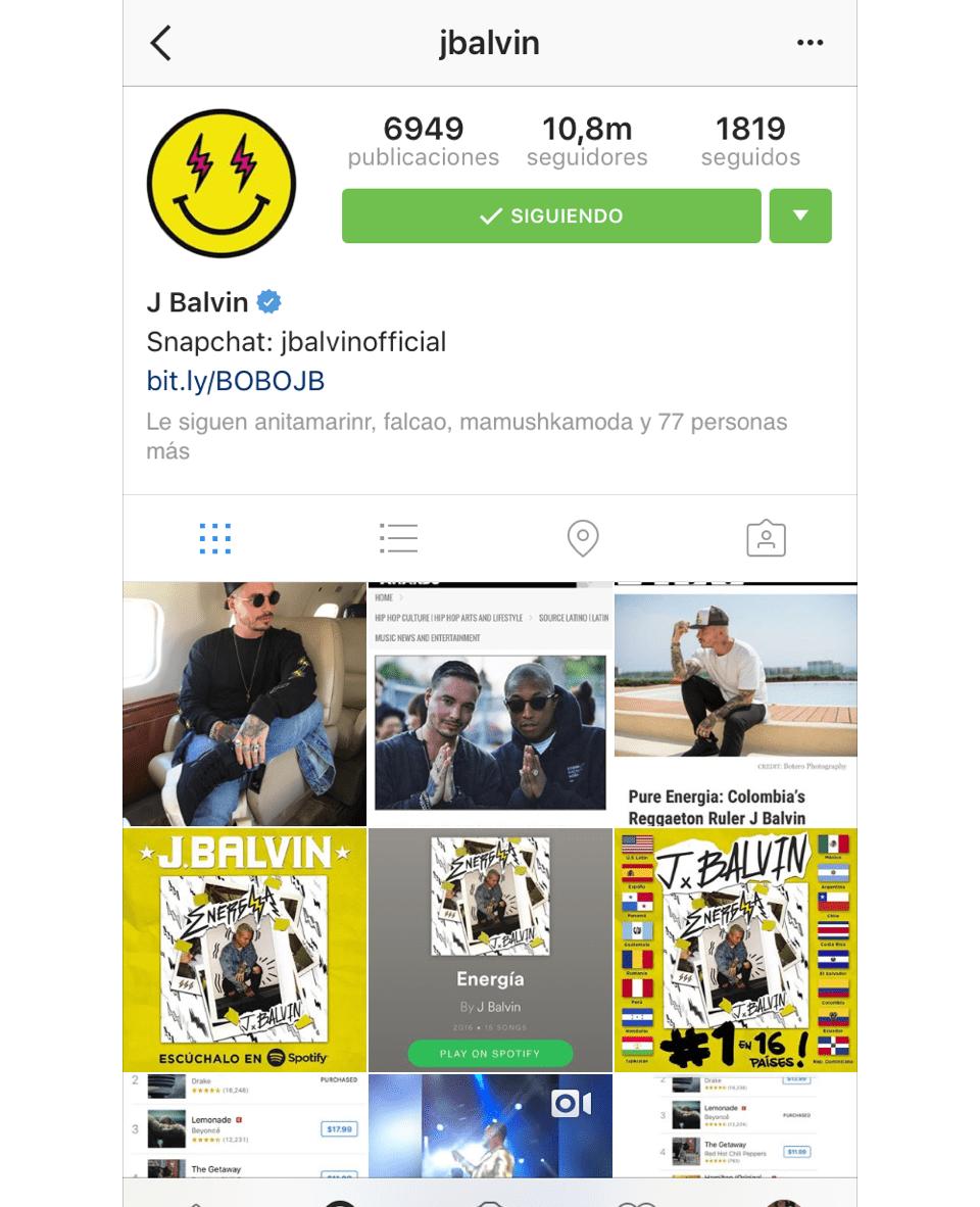 instagram j balvin