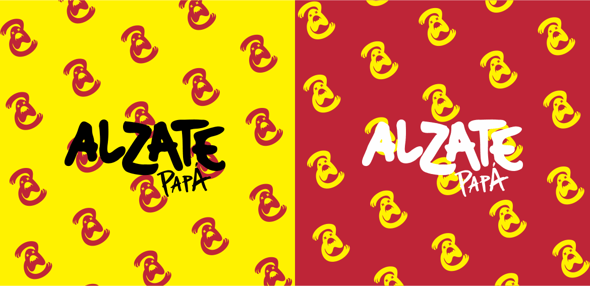 Alzate Papá 2heart logo background