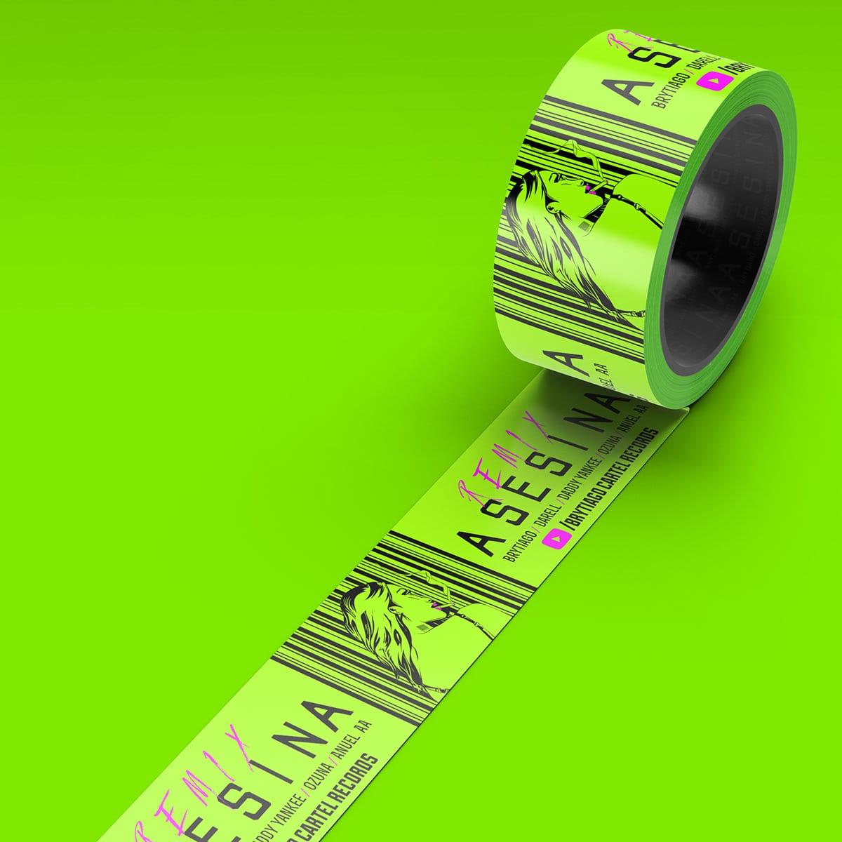 cinta delimitadora verde limón asesina 2heart
