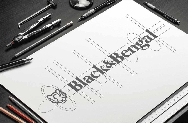 b&b logo diseño en papel 2heart