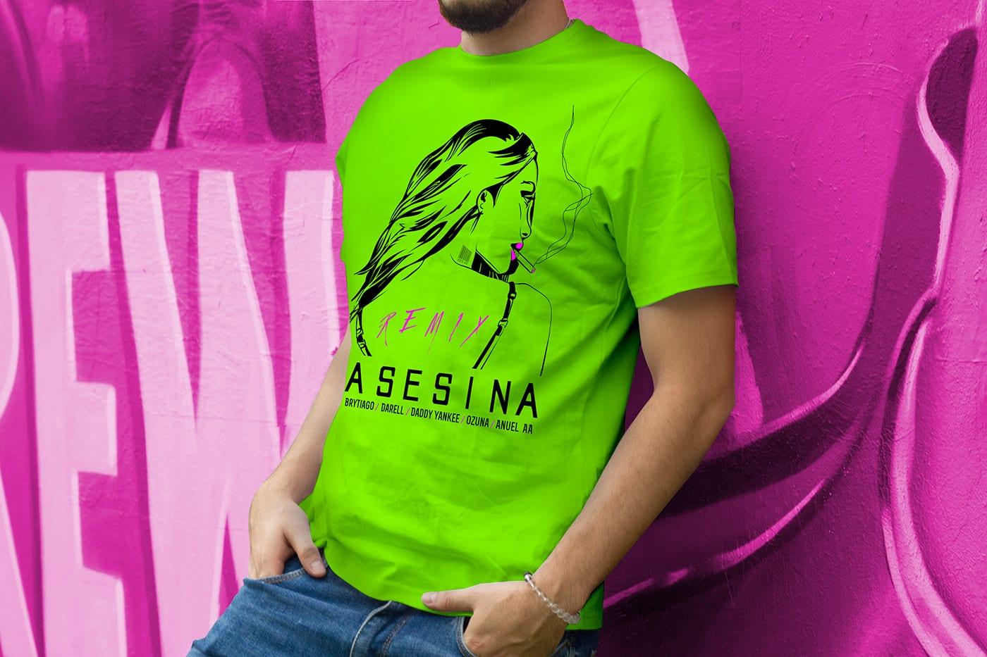 camiseta verde limón asesina 2heart