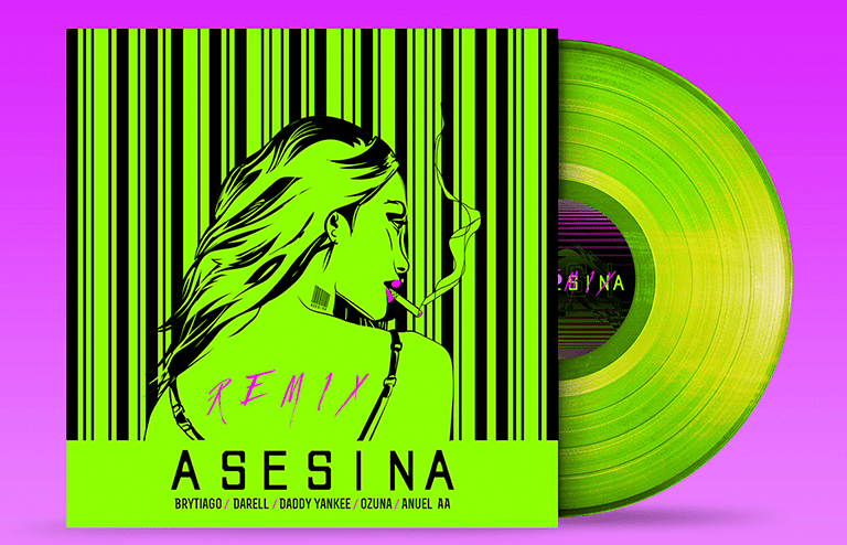 LP Long Play Asesina Remix Verde Limón 2heart
