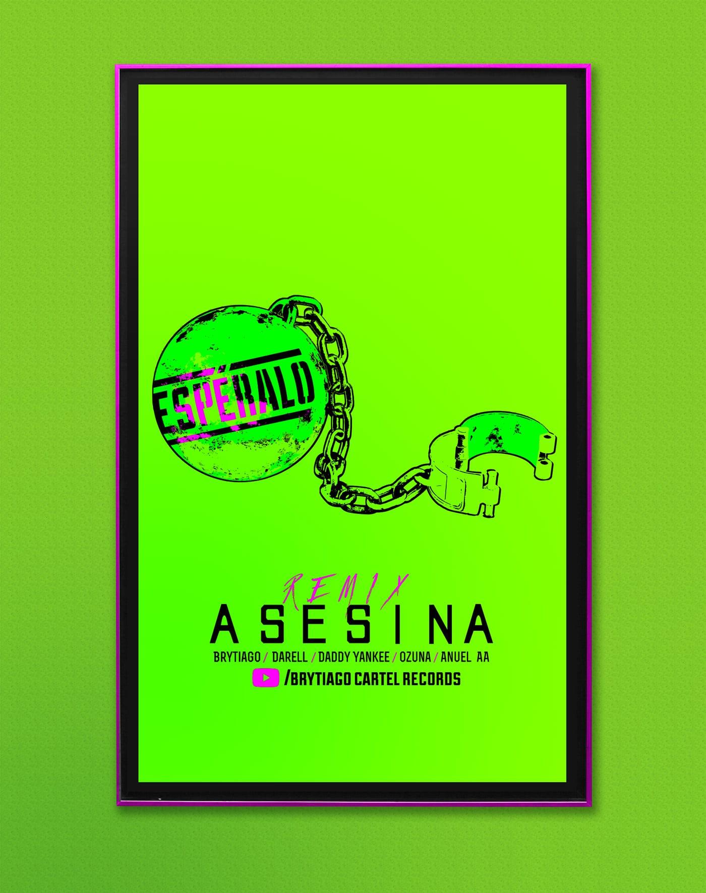 afiche verde limón asesina 2heart